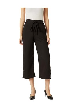 Miss Chase Black High Rise Culottes