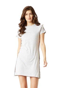 Miss Chase Light Grey Cotton Jersey Dress