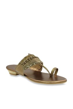 fe5bbf644 Inc.5 Antique Gold Toe Ring Sandals