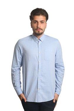 Blackberrys Light Blue Button Down Collar Cotton Shirt