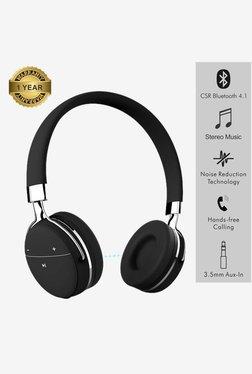 Portronics Muffs Pro POR 645 Wireless Bluetooth Headphone with Aux port(Black)