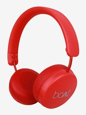 Boat RockerZ 440 Over The Ear Bluetooth Headphone With Mic (Furious Red)