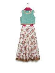 9ddeb542be3 Utsa Kids by Westside Pink Fit-And-Flare Ghagra Choli Set