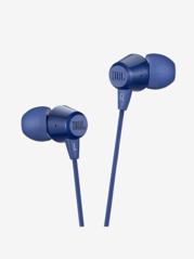 JBL C50HI Wired Earphones with Mic (Blue)