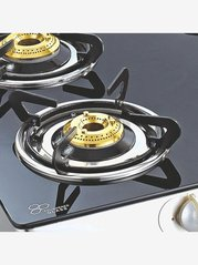 Sunflame Crystal SS 4 Burners Gas Stove (Black/Silver)
