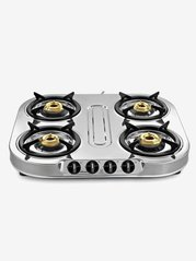 Sunflame Spectra Plus SS 4 Burners Gas Stove (Silver)