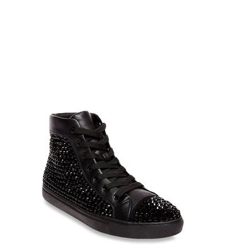 Steve Madden Crescent Black Ankle High Sneakers