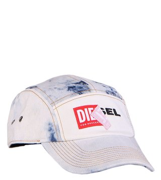 Diesel White Channel-D Cappello Baseball Cap