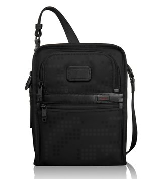 Tumi Black Alpha Organizer Travel Crossbody Bag