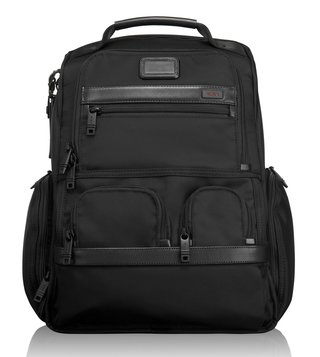 Tumi Black Alpha Compact Laptop Brief Pack