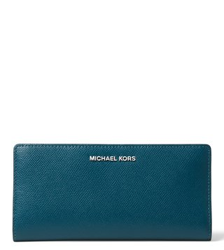 MICHAEL Michael Kors Luxe Teal, Admiral & Pale Blue Snap Wallet
