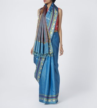 Taneira Blue South Silk Saree