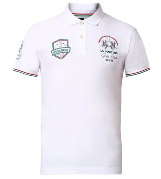 La Martina Optic White Life Style Polo T-Shirt