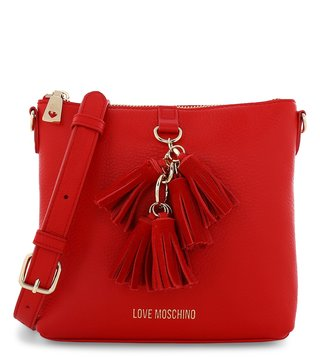 1ee58b70d666 Love Moschino Rosso Classic Leather Small Cross Body Bag ...