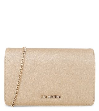 Love Moschino Oro Evening Medium Clutch