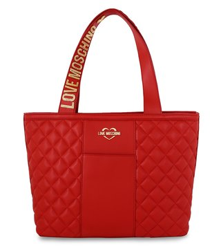 Love Moschino Super Quilted Rosso Medium Tote