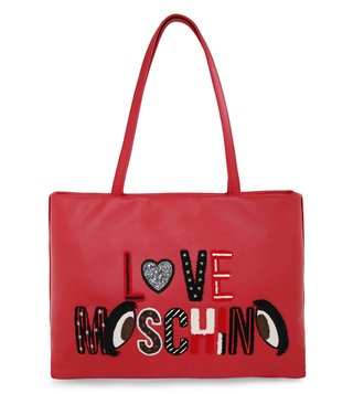 Love Moschino Rosso I See You Large Tote
