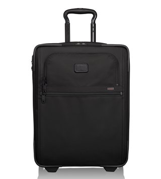 Tumi Black 2 Wheeled Alpha 2 Slim Carry On Cabin Bag