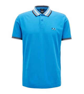 Hugo Boss Bright Blue Paddy 1 Polo T-Shirt