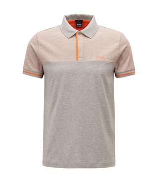 Hugo Boss Light Pastel Grey Paule 5 Polo T-Shirt