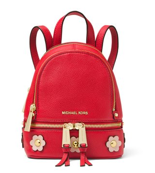 MICHAEL Michael Kors Bright Red & Soft Pink Rhea Zip Backpack