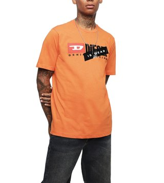 Diesel Orange HA(U)TE COUTURE Logo T-Shirt