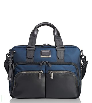 Tumi Navy Alpha Bravo Albany Slim Commuter Briefcase
