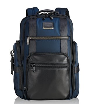 Tumi Navy Alpha Bravo Sheppard Deluxe Backpack