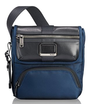 Tumi Navy Alpha Bravo Barton Cross Body Bag