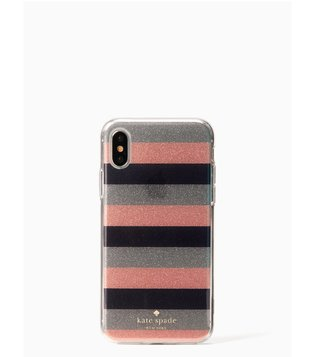 Kate Spade Multi Glitter Stripe Iphone X Case