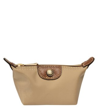 Longchamp Le Pliage Beige Small Coin Purse