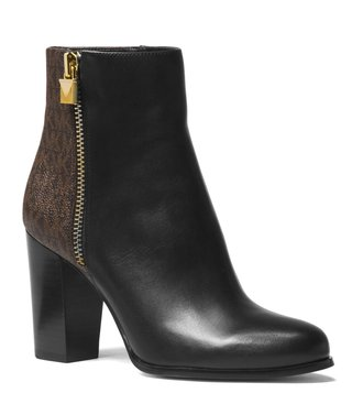 MICHAEL Michael Kors Black & Brown Margaret Booties
