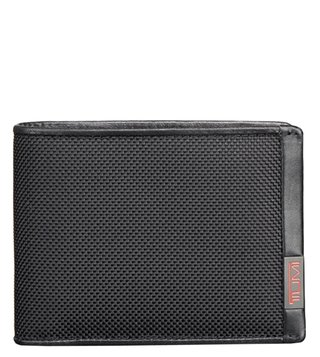 Tumi Black Alpha Double Billfold Wallet