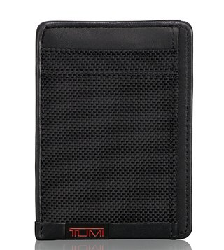 Tumi Black Alpha ID Lock Money Clip Card Case