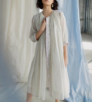 Itr by Khyati Pande White Origami Over Jacket
