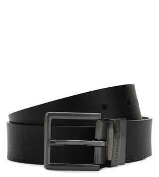 Armani Exchange Black & Brown Reversible Leather Belt