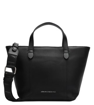 4ac15469be1b Armani Exchange Black Allday Contrast Piping Medium Tote ...