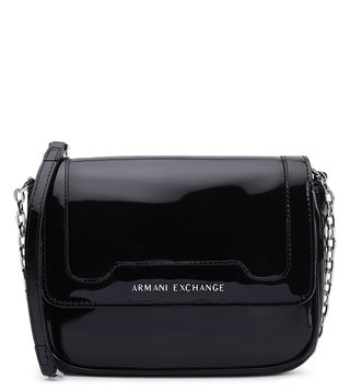 Armani Exchange Nero Riveted Soft Cross Body Bag