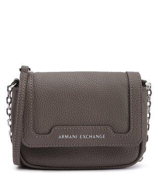 Armani Exchange Taupe Small Textured Cross Body Bag