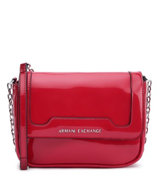 19643d8d31c1 Armani Exchange Rosso Riveted Soft Cross Body Bag ...