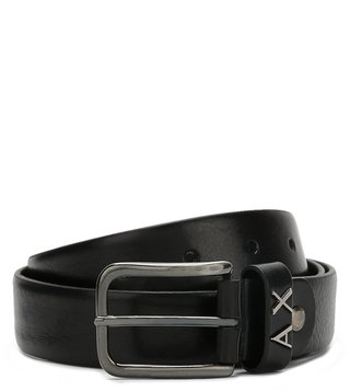 Armani Exchange Nero Metal Logo Loop Belt