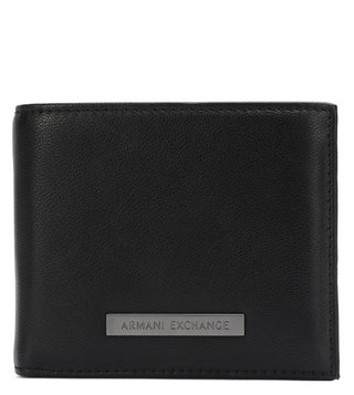 Armani Exchange Black & Navy Plaque Bicolor Billfold Wallet