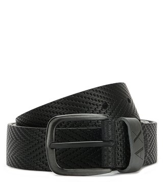 Armani Exchange Nero Armani Title Waist Belt