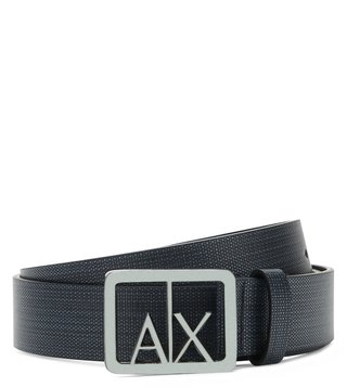 Armani Exchange Navy Textured Classic Belt