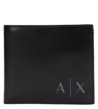 Armani Exchange Nero Contrast Logo Embossed Wallet