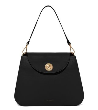 Coccinelle Noir Jalouse Medium Shoulder Bag