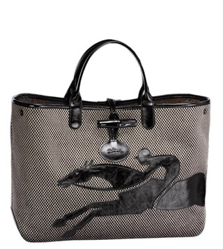Longchamp Brown Roseau Double Jeu Large Tote