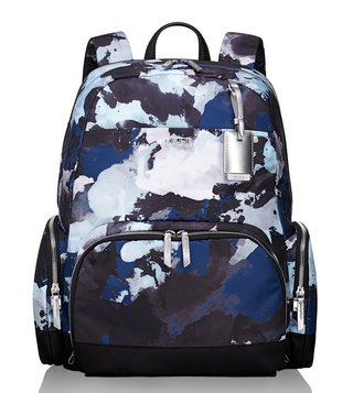 Tumi Blue Watercolor Voyageur Calais Backpack