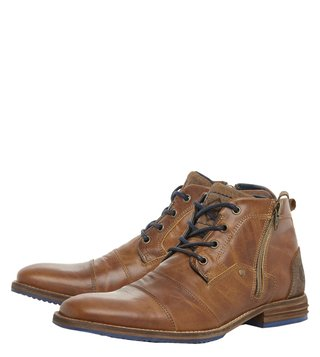 Dune London Tan Captains Boots