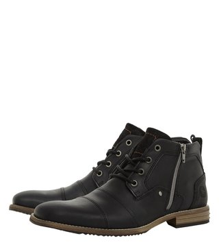 Dune London Black Captains Boots